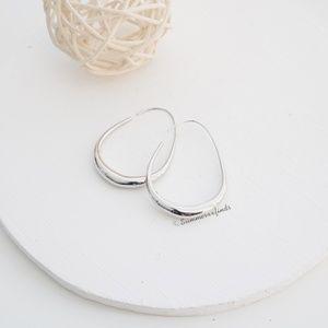 Anthropologie Silver Hoop Earrings